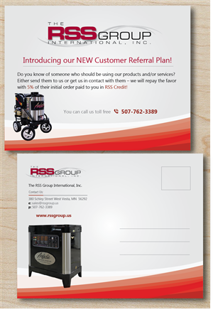 Postcard Design by alex989 - Customer Referral Plan Postcard Mailout for The ...
