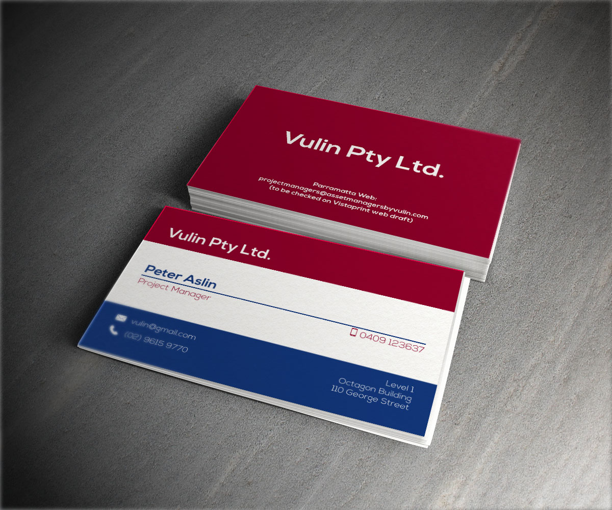 Construction Business Card Design for a Company by Drumbi | Design ...