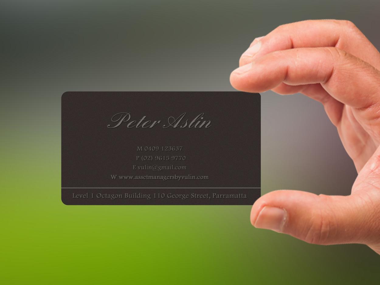Business Card Design for Peter Aslin by Lanka Ama | Design #5342180