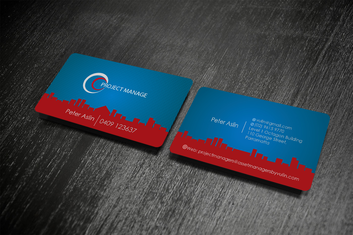 Business Card Design for Peter Aslin by creative vision | Design ...