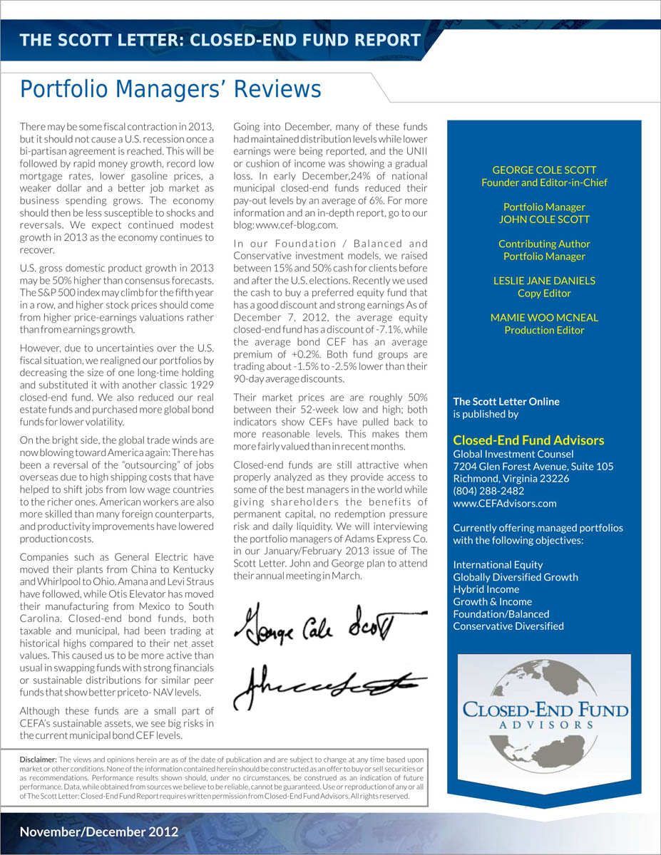 serious  professional  investment newsletter design for