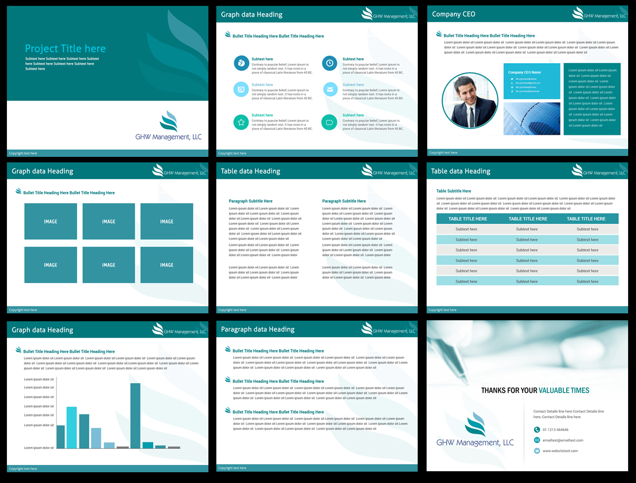 business template design for powerpoint design 2018