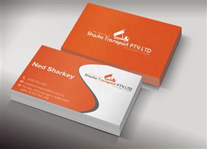 business card design for sharks transport by chere design 1499563