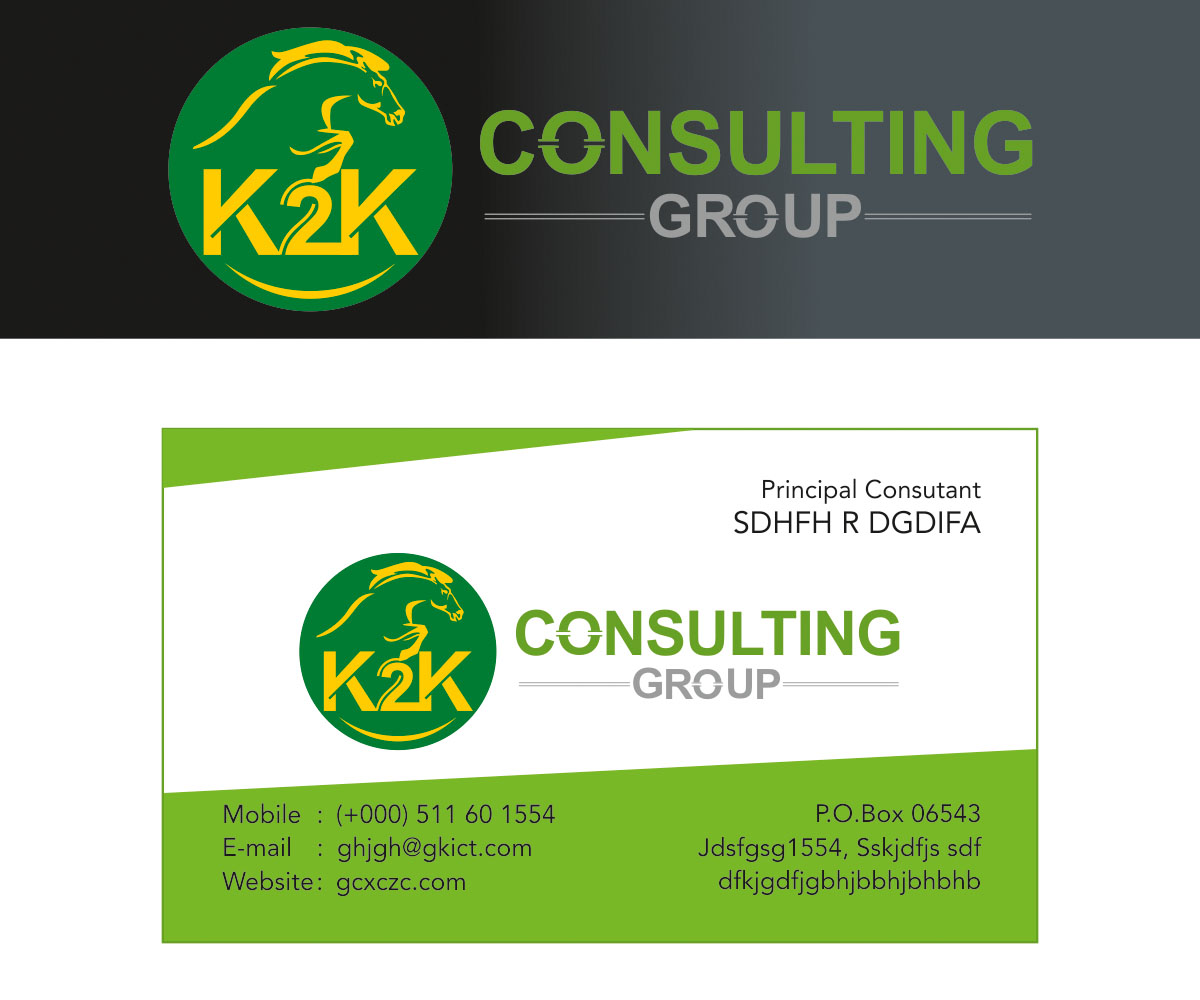 Business card design for k2k consulting by pranavelanji for Business design consultant
