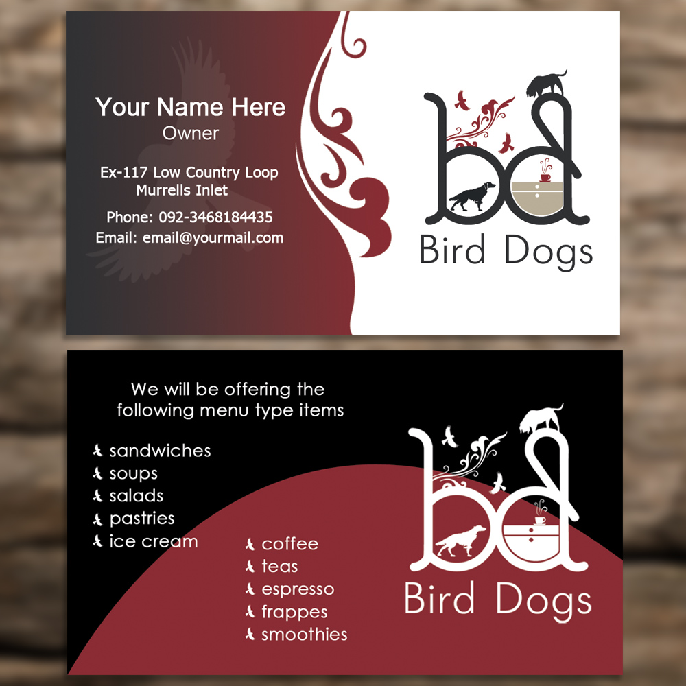 Playful, Traditional, Coffee Shop Business Card Design for a Company ...