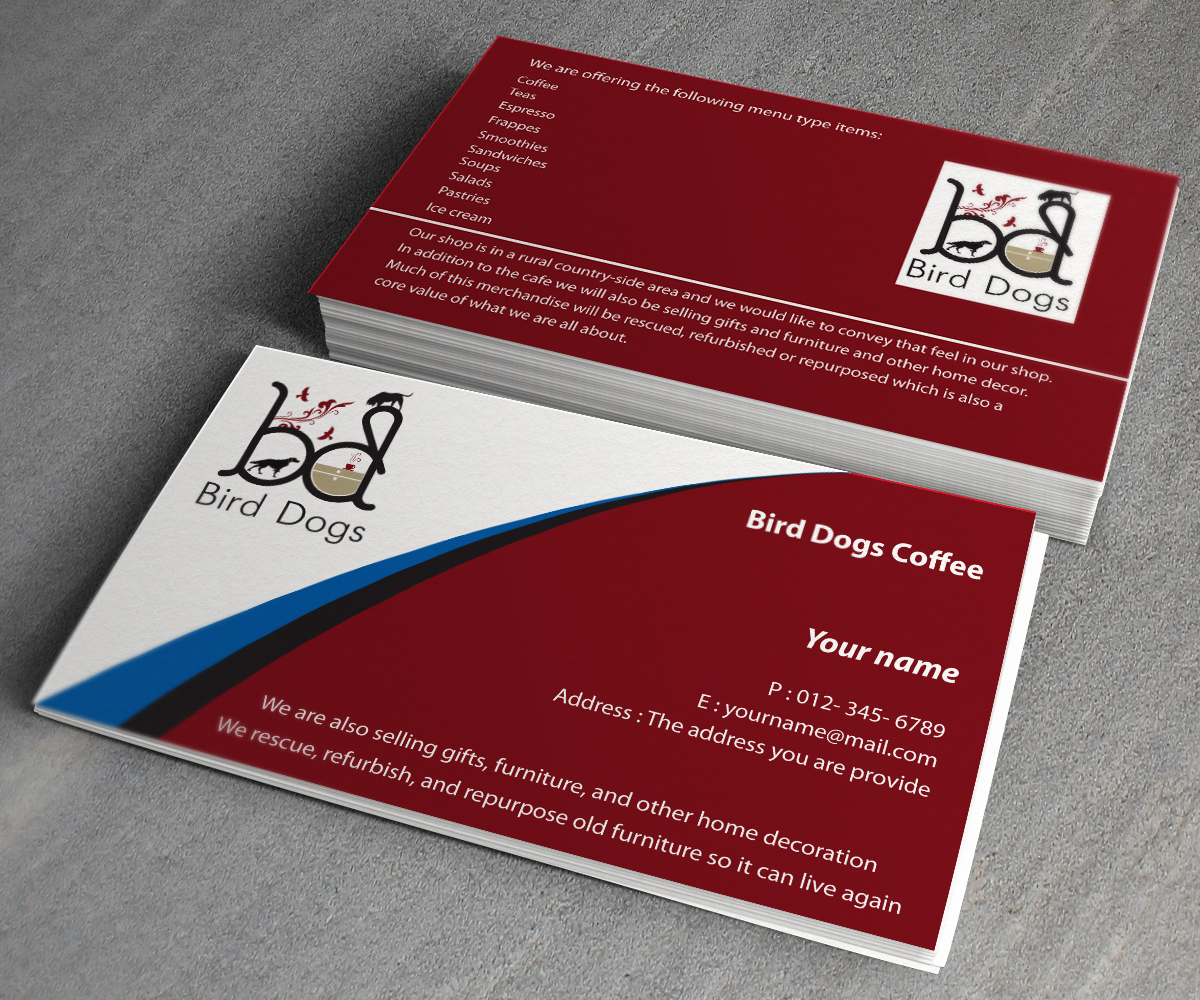Playful Traditional Coffee Shop Business Card Design For A Company