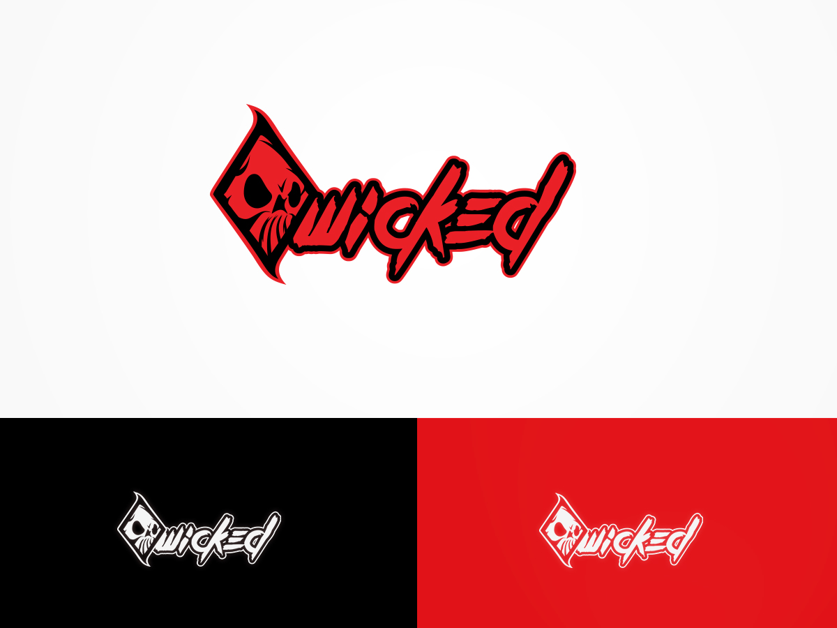 Bold Serious Clothing Logo Design For Wicked By
