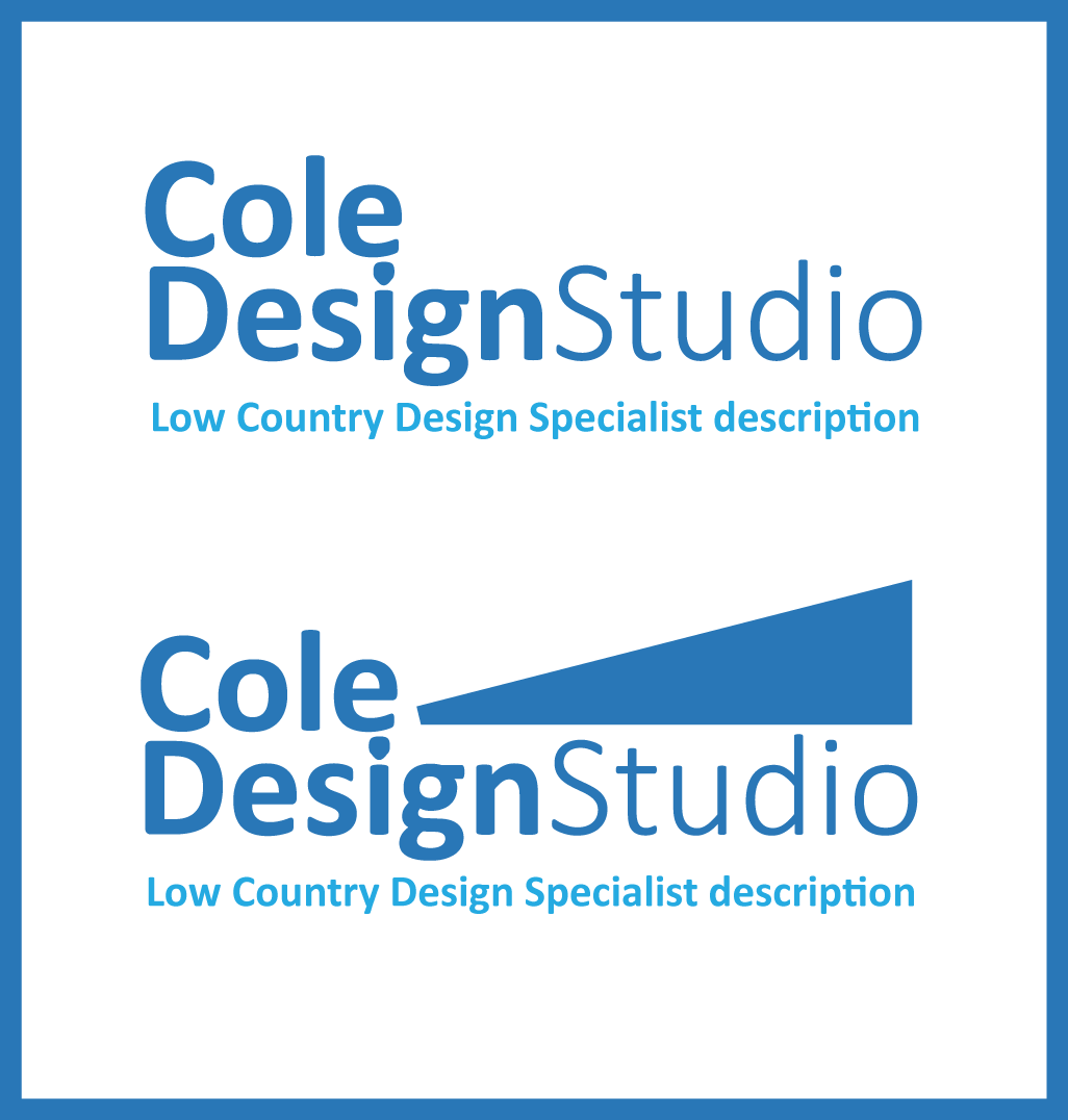 Modern Professional Marketing Logo Design For Cole Design Studio Lowcountry Design Specialist By Instametric Design Design 5368850