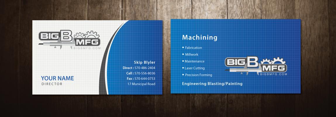 Masculine bold business business card design for big b mfg by business card design by meet007 for big b mfg design 5368295 colourmoves