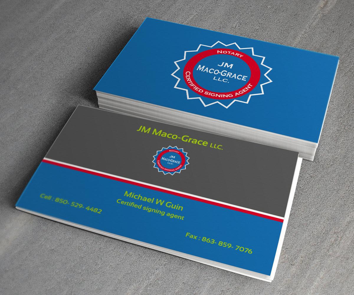 Bold, Serious, Travel Business Card Design for JM Maco-Grace LLC by toron00 | Design #5449470