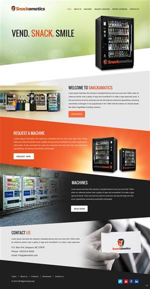 Web Design by pb - Basic Website for Vending Machine Business