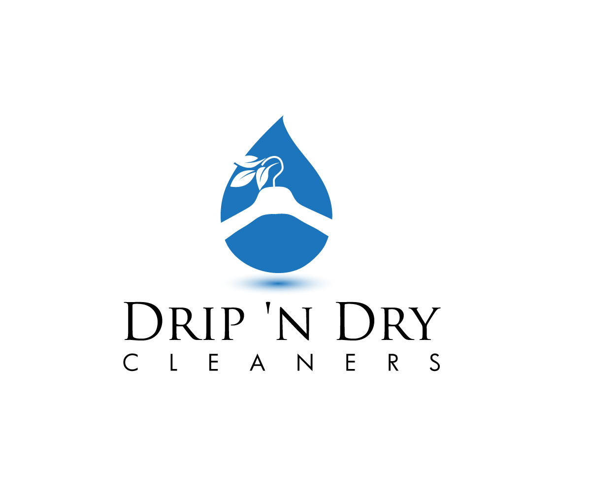 bold playful industrial logo design for drip n dry