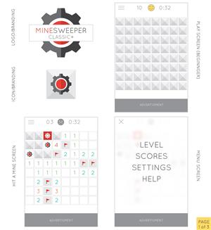 App Design by Hat Rack Creative - Minesweeper App Redesign