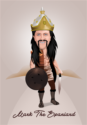 Illustration Design by Design Sky - Atilla the Hun or Mark the Spaniard drawing/car ...