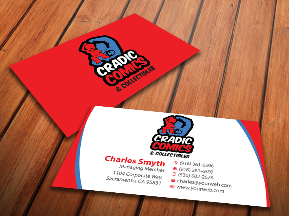 Masculine, Playful, Business Business Card Design for Cradic Comics ...