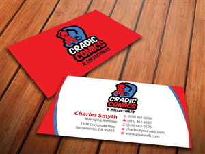 95 masculine business card designs business business card design business card design by mediaproductionart for cradic comics and collectibles design 5396092 colourmoves