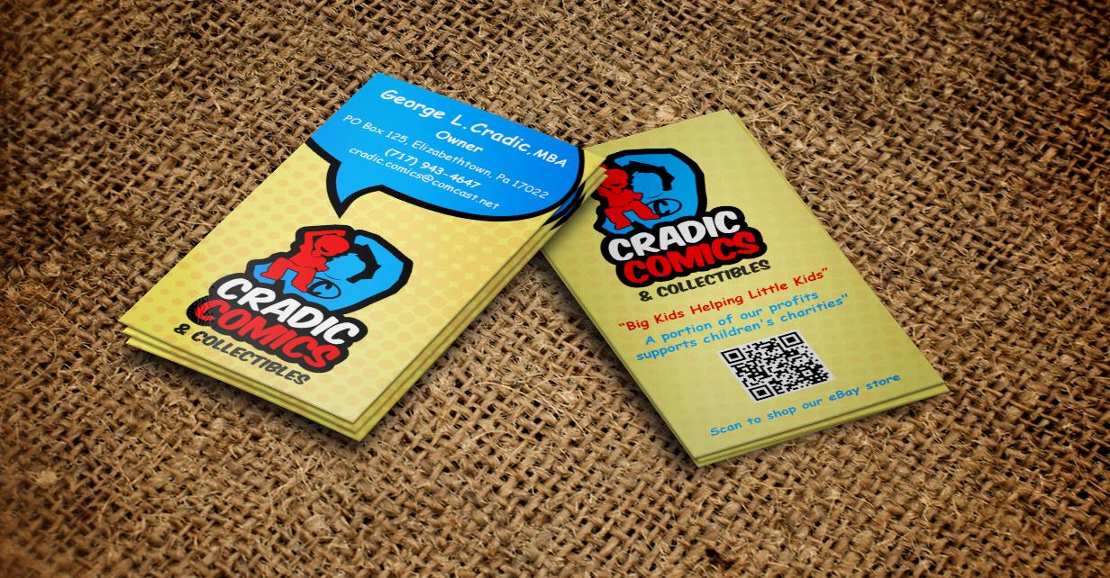 Masculine playful business business card design for cradic comics business card design by designnteam for cradic comics and collectibles design 5400437 colourmoves