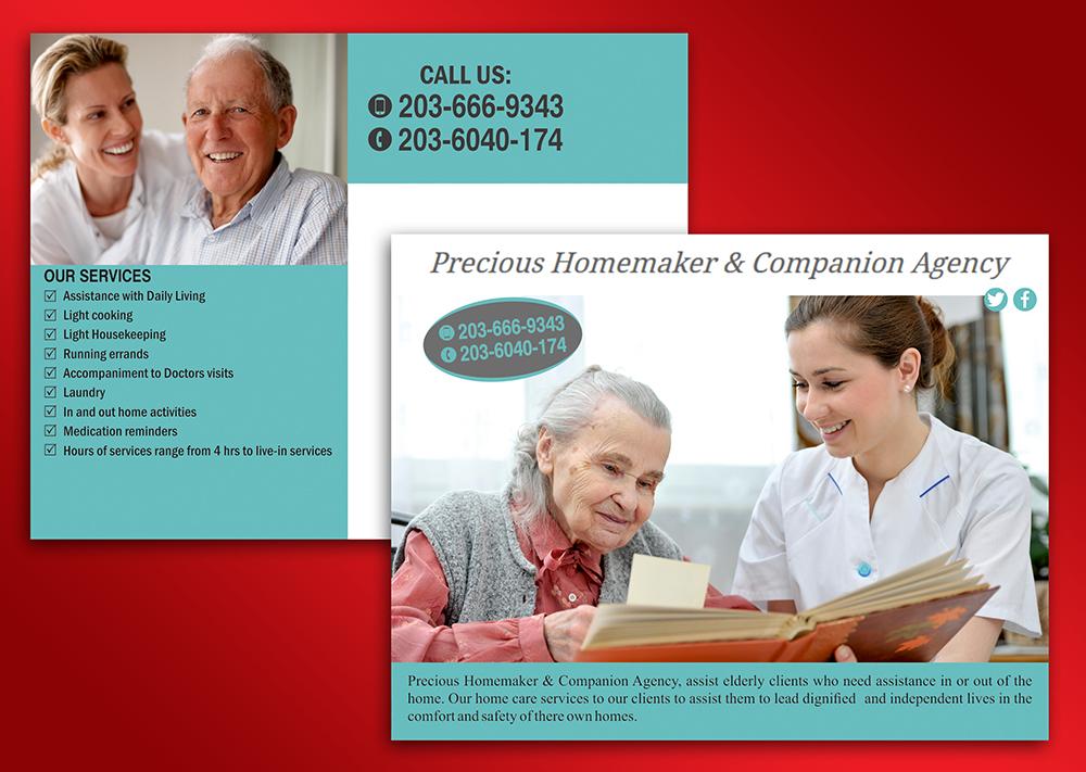 Professional, Elegant, Business Postcard Design for Precious