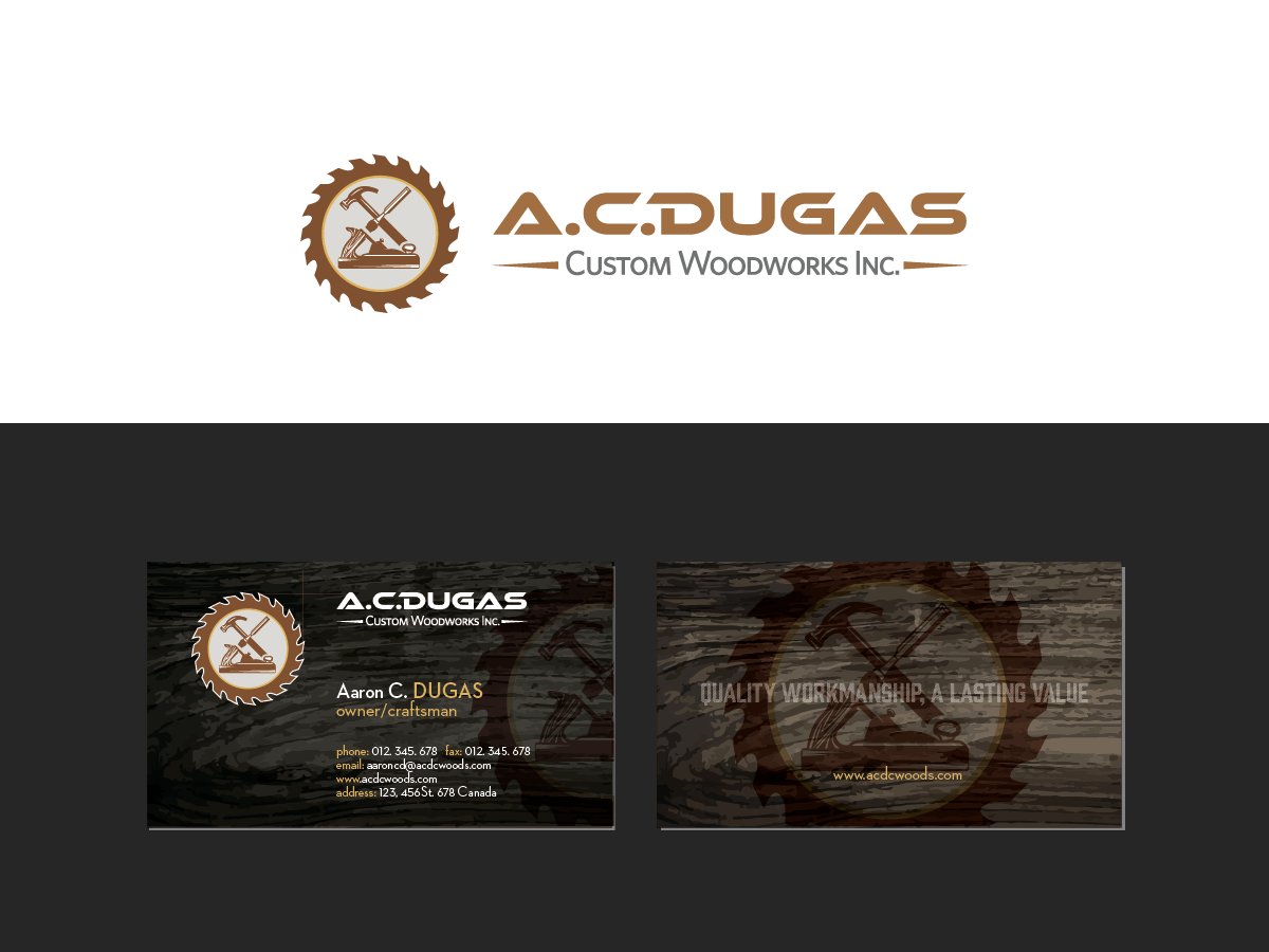 Colorful, Bold Logo and Business Card Design for Aaron Dugas by ...