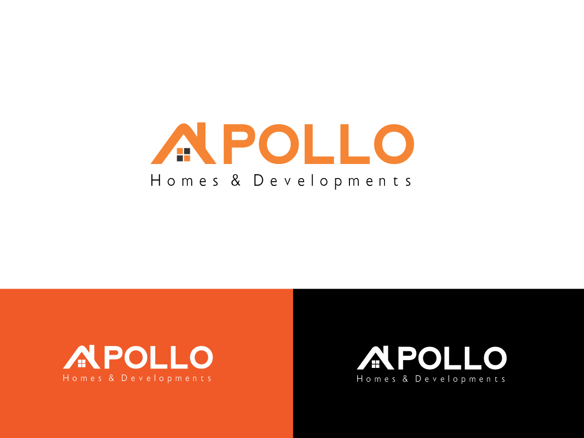 Modern, Bold, Building Logo Design for Apollo Homes & Developments ...
