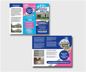 Brochure Design by mcoco - Bubbles House Washing Tri-Told design for my ho ...