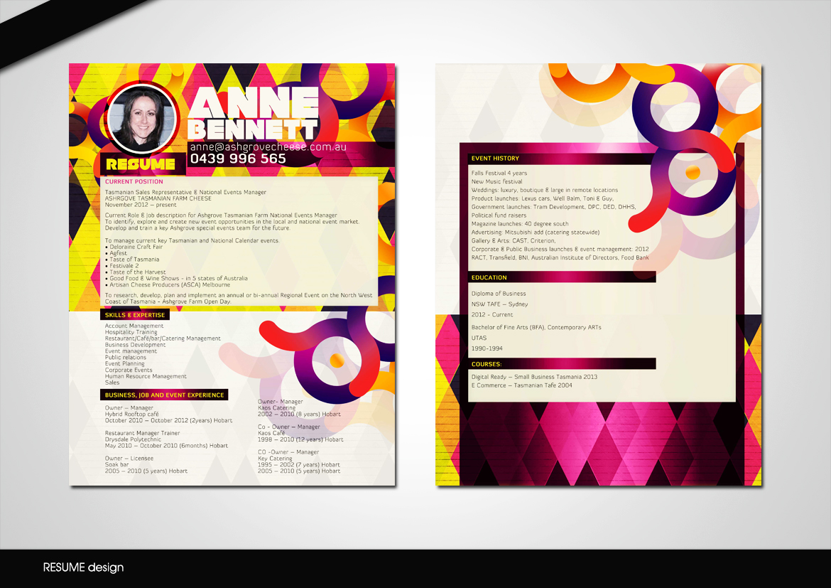 modern colorful resume design for a company by disign design 1502609