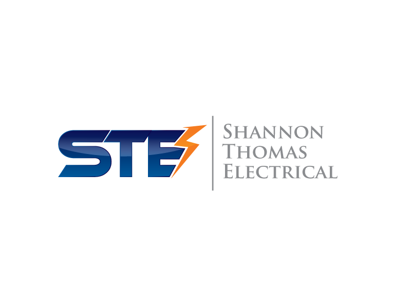 electrical logo design for ste shannon thomas electrical