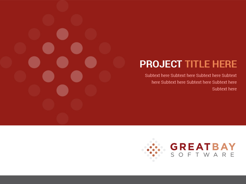 elegant masculine software powerpoint design for great bay