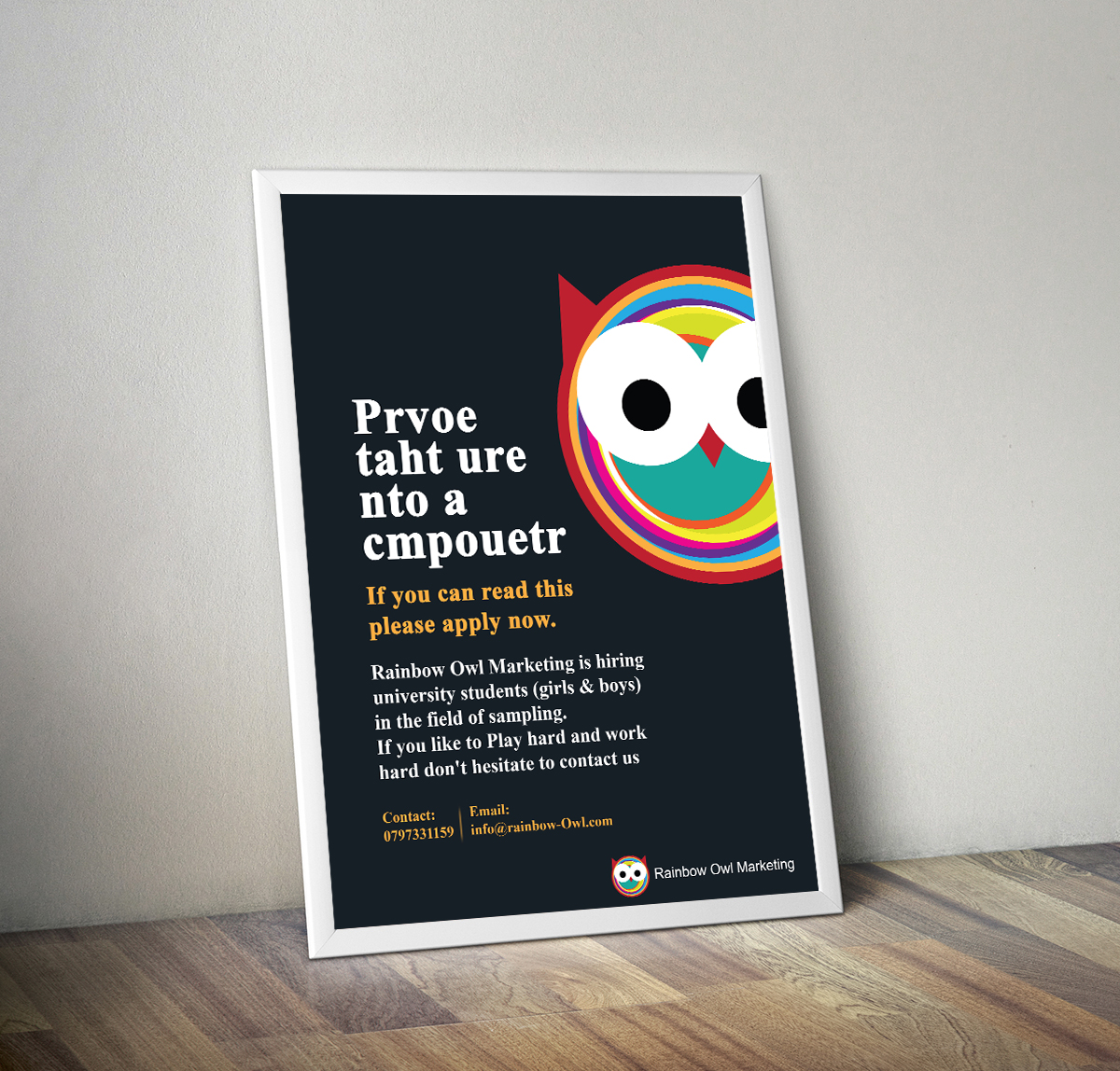 Poster design questionnaire - Bold Playful Poster Design For Company In Jordan Design 5514026
