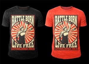 T-shirt Design by D'Mono - Cool propaganda T-shirt Design needed for Battl ...