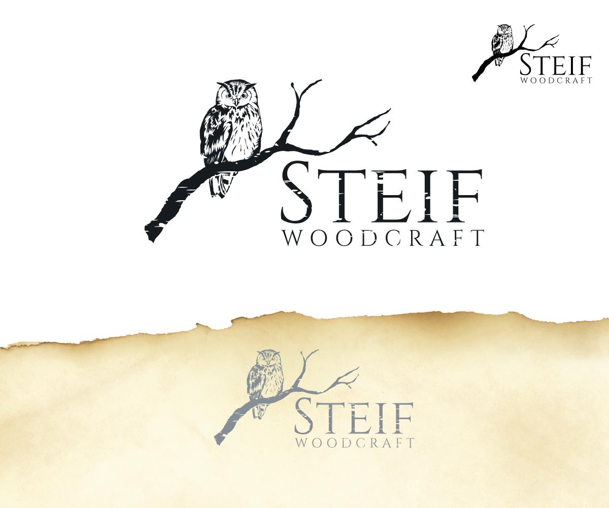 Elegant Playful Business Logo Design For Steif Woodcraft By Design