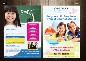 Flyer Design by meet007 - Ortho-K Flyer (A4 size, 2 pages)