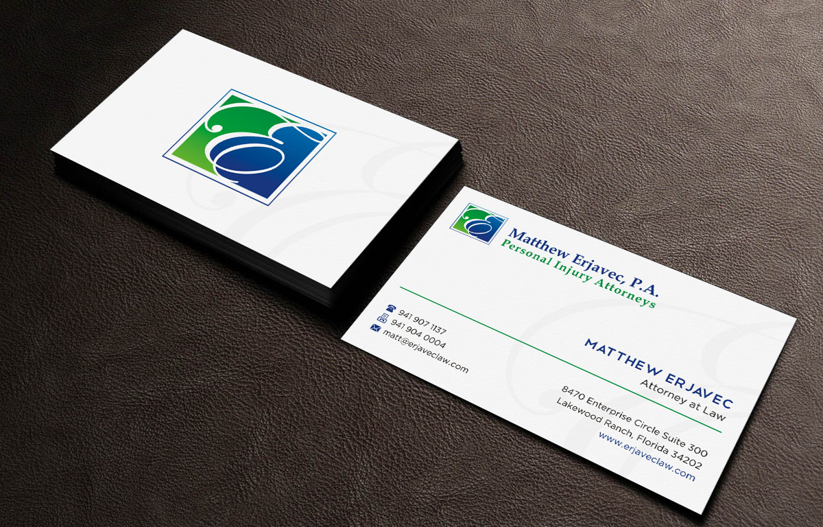 Elegant, Playful, Law Firm Business Card Design for a Company by ...