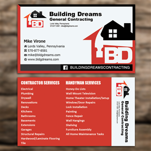 121 business card designs building business card design project business card design by sandaruwan for building dreams general contracting design 5447442 colourmoves