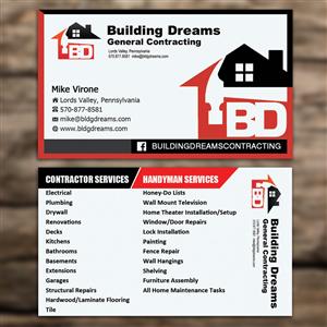 121 business card designs building business card design project business card design by sandaruwan for building dreams general contracting design 5447467 colourmoves