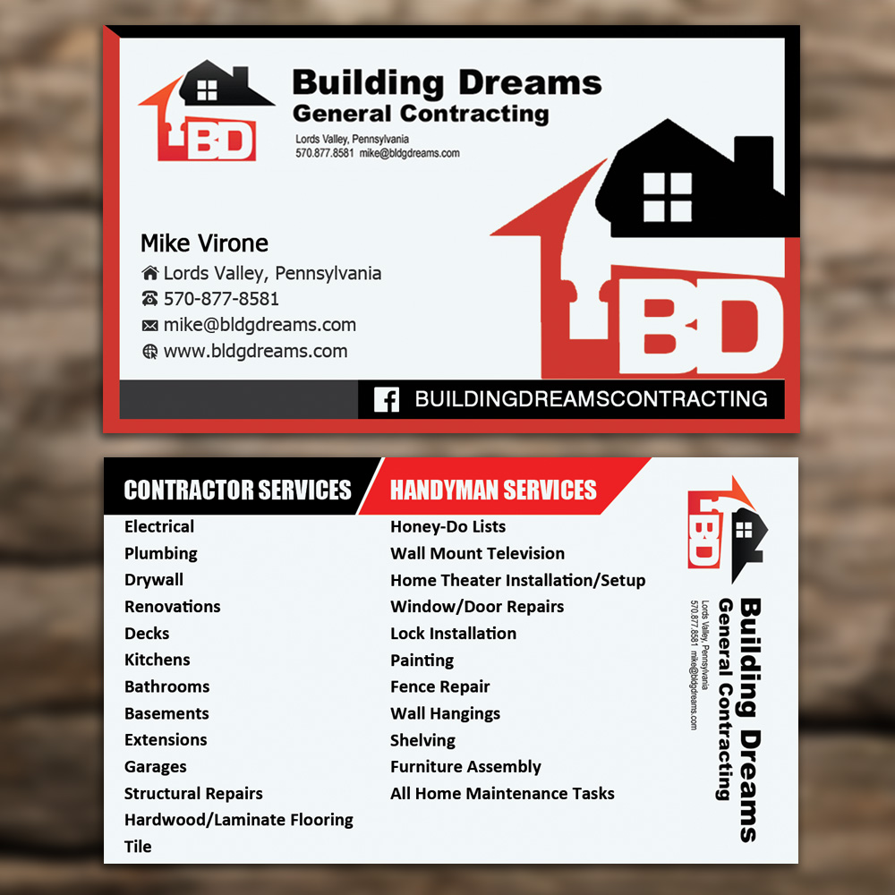 Building business card design for building dreams general building business card design for building dreams general contracting in united states design 5447470 colourmoves