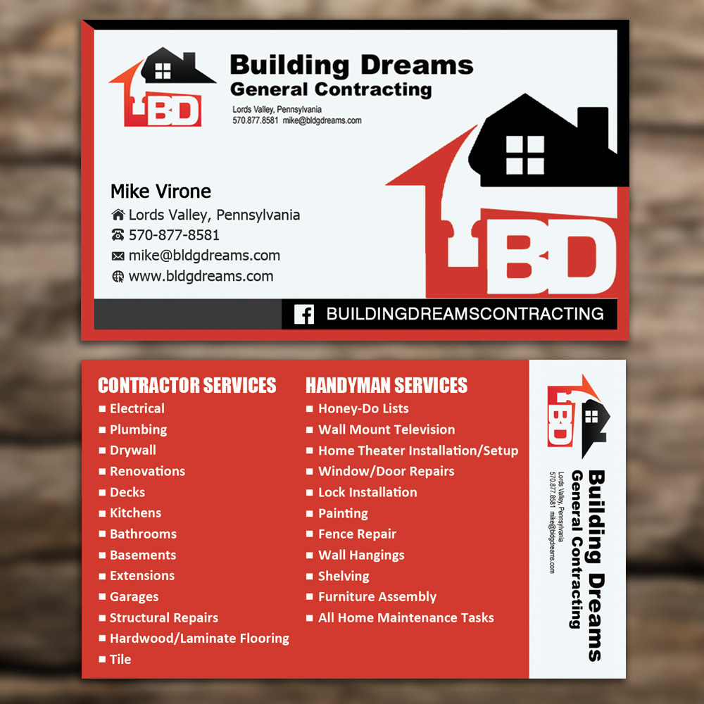 Attractive General Contractor Business Cards Images - Business Card ...