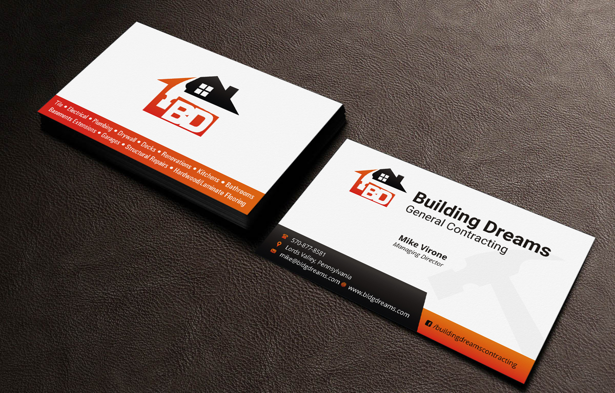 Building business card design for building dreams general building business card design for building dreams general contracting in united states design 5431834 colourmoves