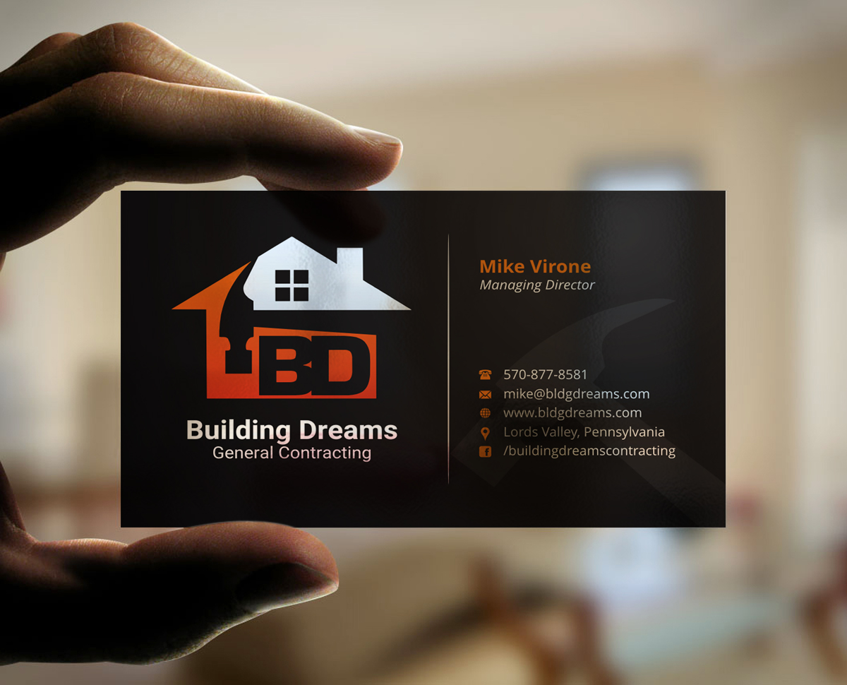Building Business Card Design for Building Dreams General ...