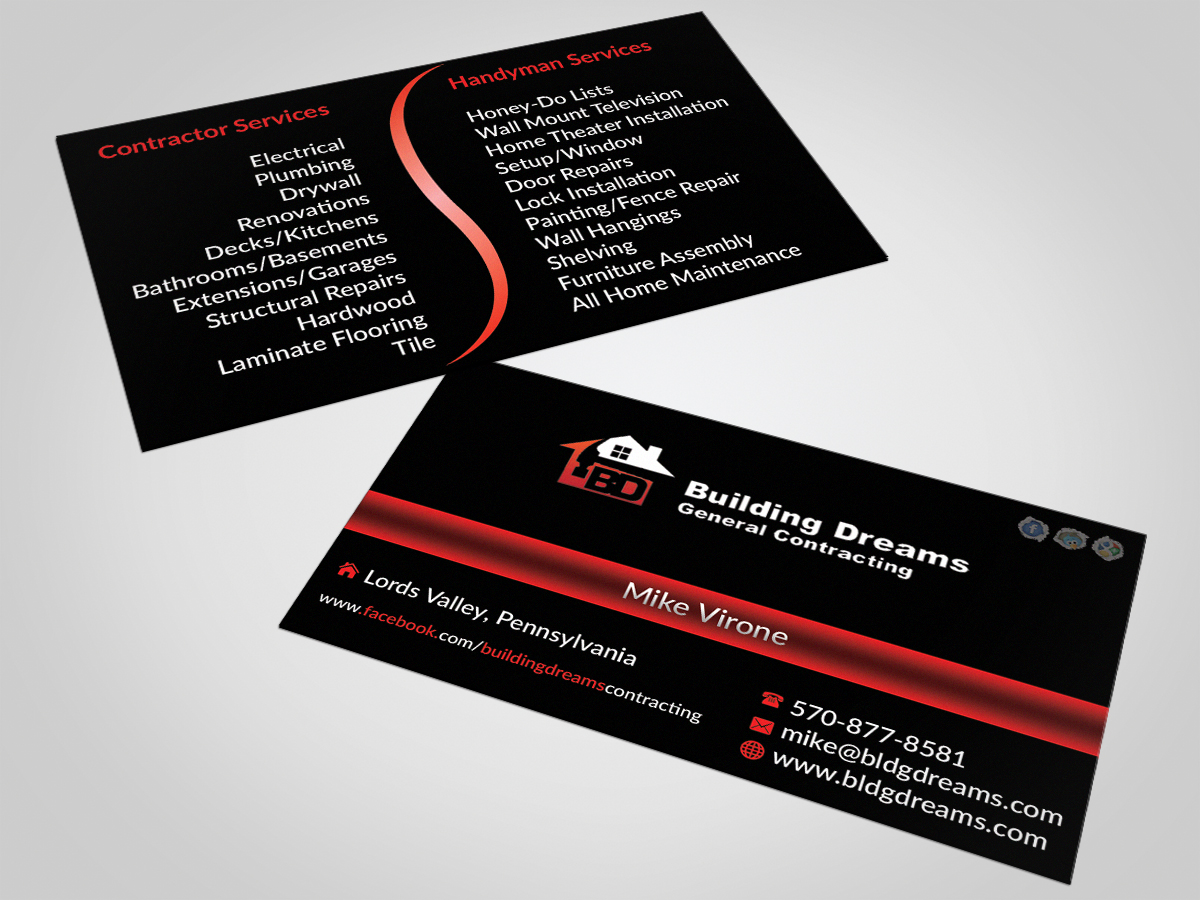 Building business card design for building dreams general building business card design for building dreams general contracting in united states design 5454622 colourmoves