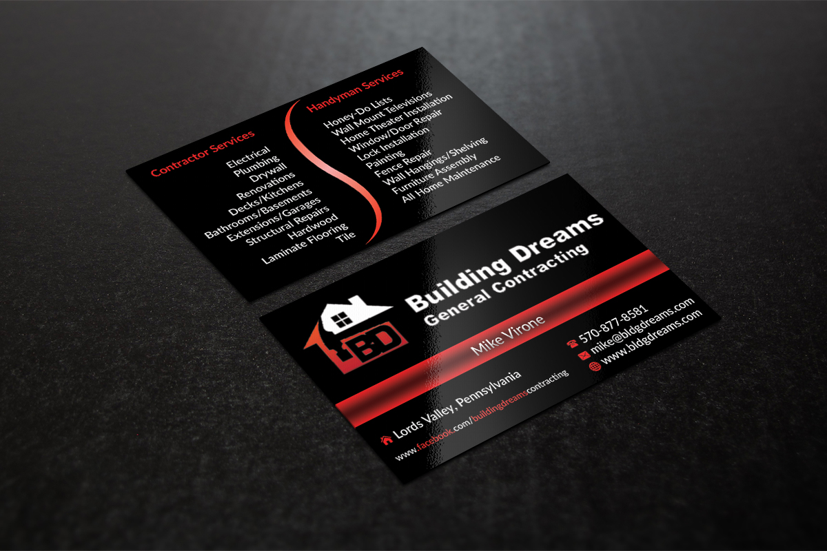Outstanding General Contractor Business Card Picture Collection