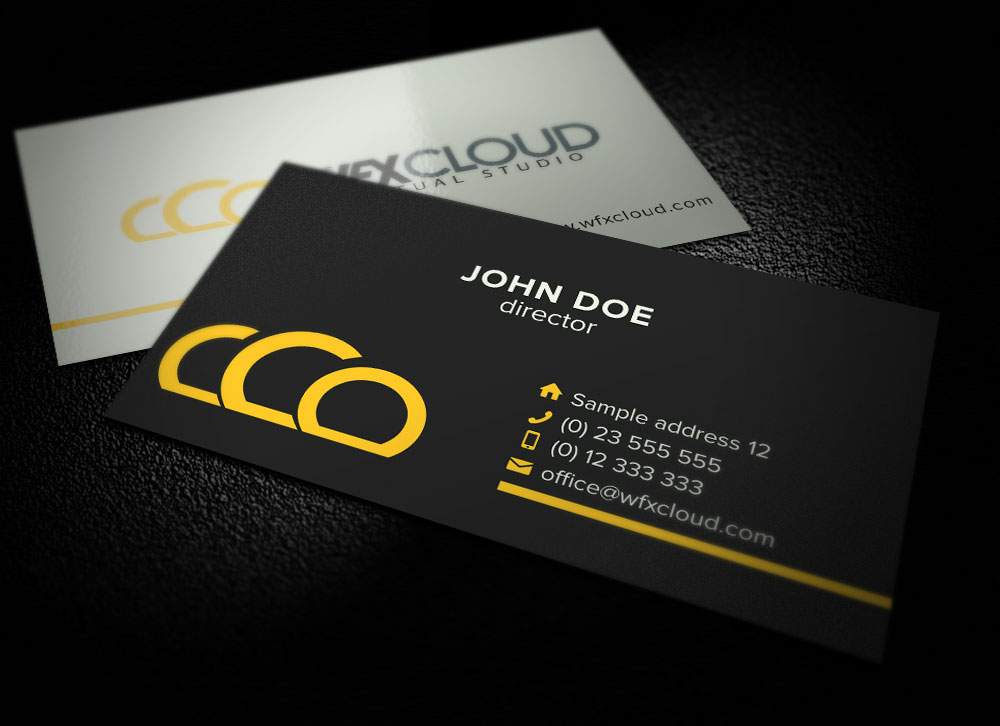 Character Design Business Card : Elegant playful business card design for the vfx cloud by