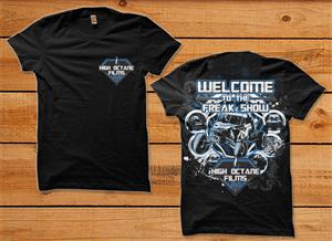 T-shirt Design by SIMRKS - High Octane Films FREAK SHOW themed T-Shirt