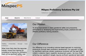 Web Design by nirmani - Milspec PS a Mining Training Company needs webs ...