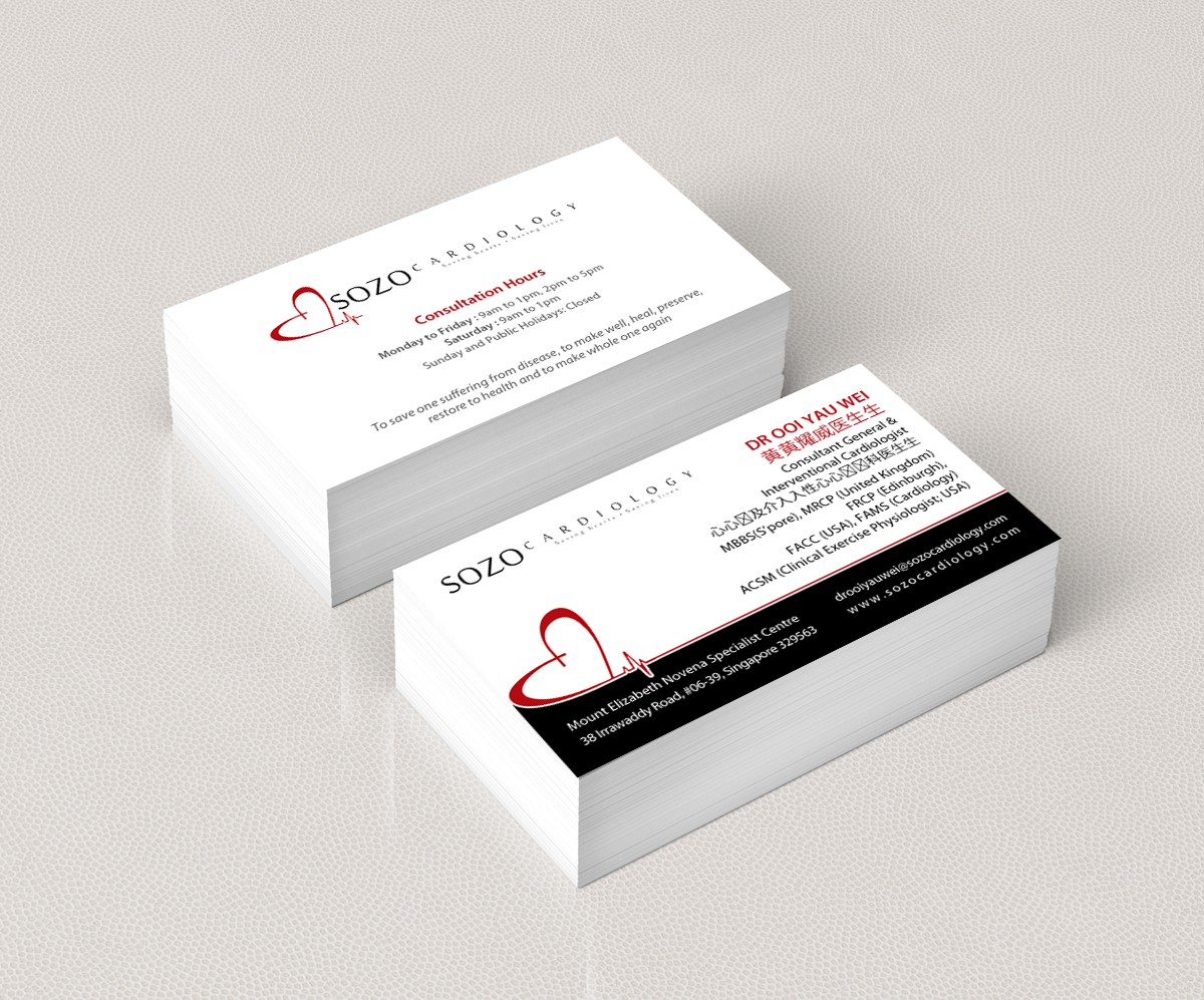 Modern masculine clinic business card design for a company by business card design by pixelfountain for this project design 5451448 reheart Gallery