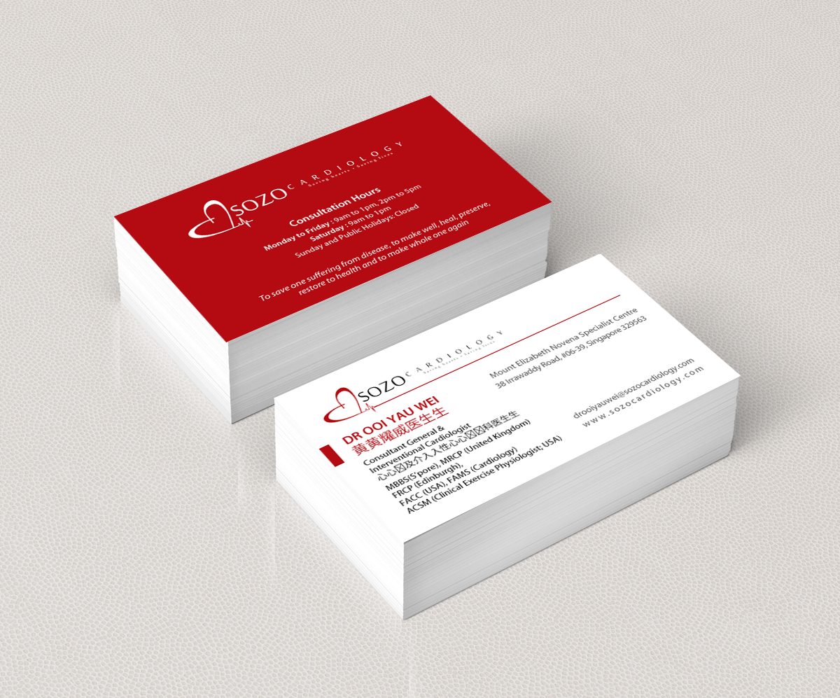 Modern masculine clinic business card design for a company by business card design by pixelfountain for this project design 5451495 reheart Gallery