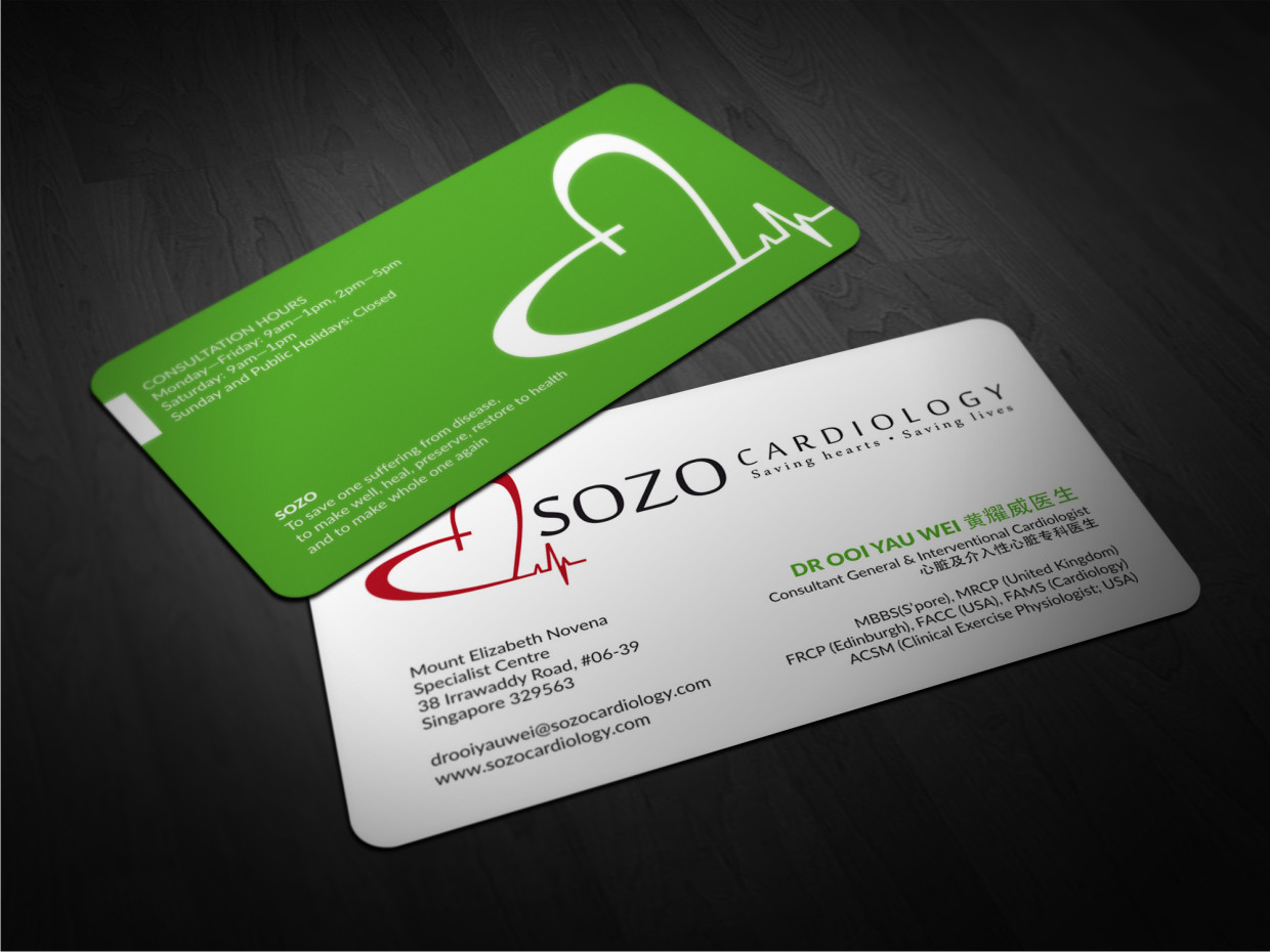 Modern, Masculine, Clinic Business Card Design for a Company by ...