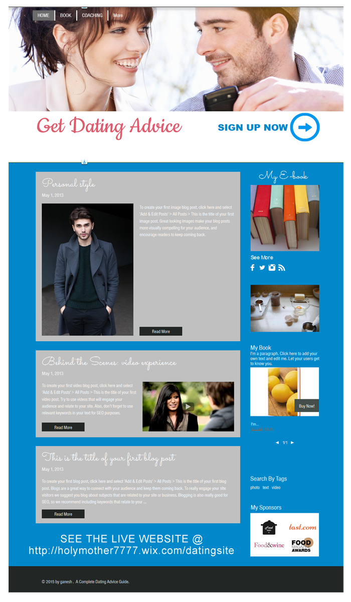 dating by design blog Check out this dating blog design for a company | design: #5520002, designer: sbss, tags: dating.