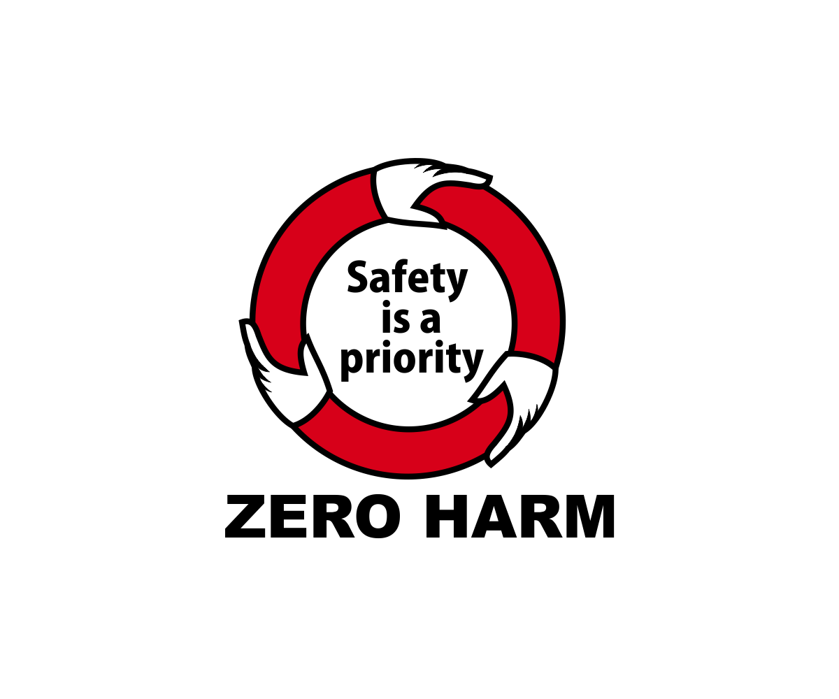 safety logo design for zero harm safety words quotes by dq