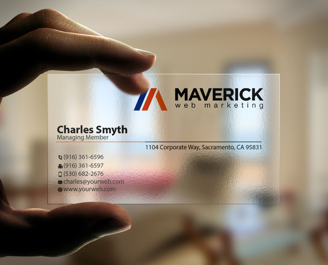 Bold modern marketing business card design for maverick web video bold modern marketing business card design for maverick web video in united states design 5498312 reheart Gallery